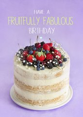 Birthday Cake Recipe Card by Laura Truby