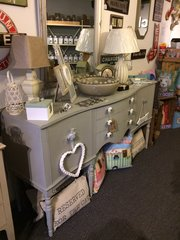 SOLD - Shabby Chic Sideboard in a Soft Grey