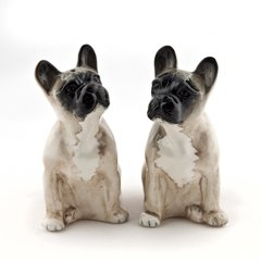 French Bulldog Salt and Pepper Pots by Quail Ceramics