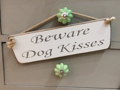 Beware Dog Kisses Sign