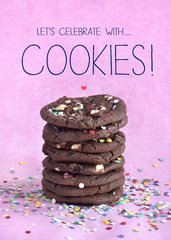 Cookies recipe Birthday Card by Laura Truby