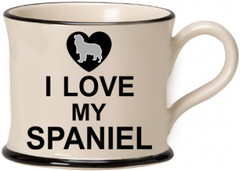 I love my Spaniel Mug by Moorland Pottery