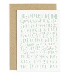 Wedding Words Card