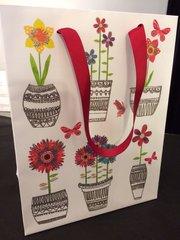 Flowers in Pots Medium Gift Bag