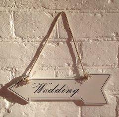 Wedding Arrow Sign On String