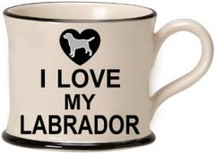I Love my Labrador Mug by Moorland Pottery