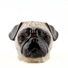 Pug Face Egg Cup by Quail Ceramics in Fawn