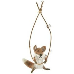 Felt fox on a trapeze
