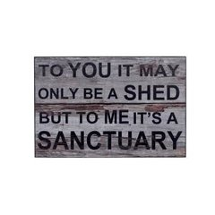 Sanctuary Shed Sign