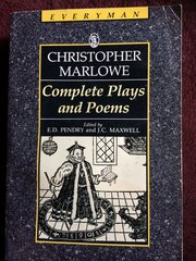 Christopher Marlowe Complete Plays and Poems.