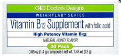 Vitamin B12 Supplement with folic acid blister packs (Honey Flavor)