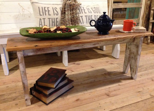 Cottage Chic BenchCoffee Table Back Country Furniture Designs