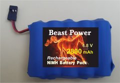 Receiver Pack 2800mAh 4.8v NIMH with charger