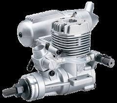 O.S. MAX .25 LA RC Airplane Engine with 2 Litre Nitro Fuel