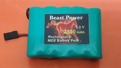 Receiver Pack 2800mAh 6.0v NICD with charger