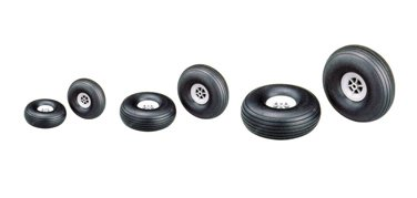 Rubber wheel Anderson (Pair) 45mm