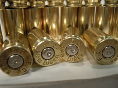 9mm Luger, 'Federal', Used Brass cases 250pk