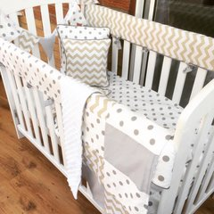 Patchwork Chevron and Polka Snuggly Blankie and matching bunting