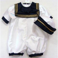 Gold ric rac trim sailor suit