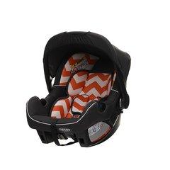Zeal 0+ Car Seat - ZigZag Orange (with stroller adaptor)