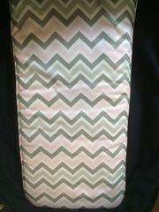 Pram Carry Cot Liner  - Pink/Grey Chevron