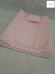Chevron Baby Changing Mat Cover with Soft Pillow