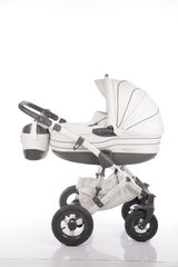 Davos baby pram 2in1 Travel system - Baby heaven - White Leather