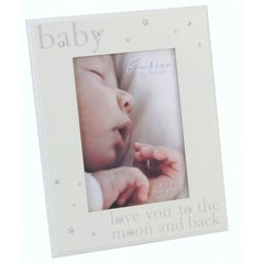 'I Love You to the moon and back' Crystal frame