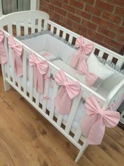 Stunning Baby Girls Princess Bedding Set with frills and bows
