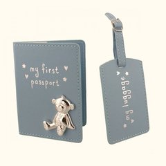 My 1st passport & luggage tag - Blue