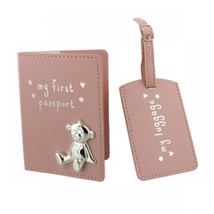 My 1st passport & luggage tag - Pink