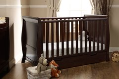 Lincoln Walnut Sleigh Cot Bed