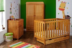 York 3 piece nursery furniture set -white or pine