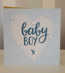 Pom-Pom Baby Boy Greeting Card
