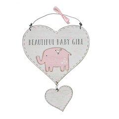 Gorgeous baby Girl little elephant heart hanger