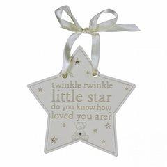 Diamante resin twinkle twinkle star plaque