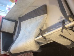 Pale Grey Toile & Charcoal Cot Bedding Set