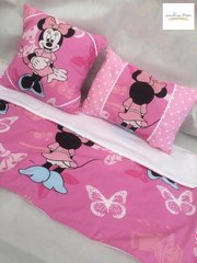 Snuggly Blankie and Cushion Set made from Licensed Minnie Mouse Fabric