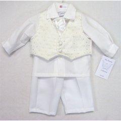 Phoenix white/silver cravat suit set