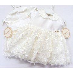 Spanish ivory lace & ribbons dress