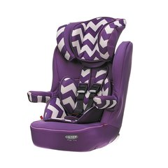 Obaby Group 1-2-3 High Back Booster Car Seat - Purple ZigZag