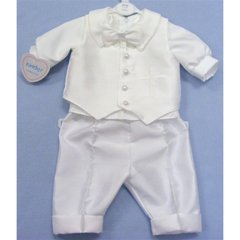 3 Piece Embriodered Cross Christening Suit
