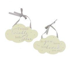 Set of 2 cloud plaques 'Little Baby'
