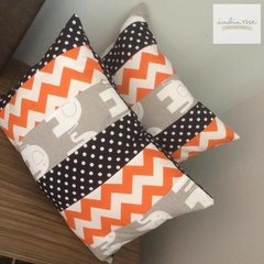 Elephant Polka Dot and Chevron Cushion Set