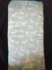 Pram Carry Cot Liner  - Mint Deer