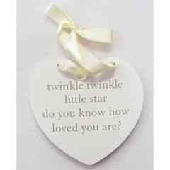 Twinkle Twinkle hanging heart decoration