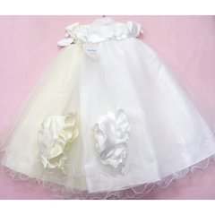 Diamante buckle christening gown and bonnet