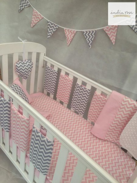 Fun, time-honored themes such as ballerina and jungle animals make a stylish statement on baby bedding. Coordinating, themed accessories accent the crib bedding and complete a custom look in the nursery.