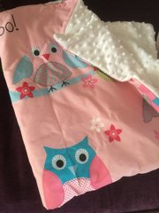Pink Snuggly Owl Blanket