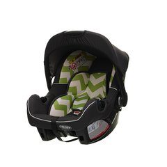 Zeal 0+ Car Seat - ZigZag Lime Green (with stroller adaptor)
